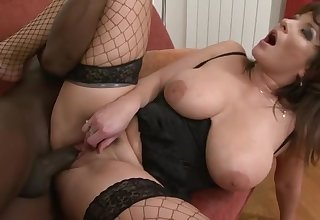 Muted Blanched Vagina Grinding Black Dick With Tara Blows