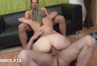 Deject France A Poil - Horny Blonde Bitch Takes Facial Cums