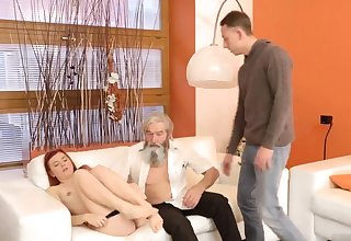 Daddy pain his father came closer to her and embarked to