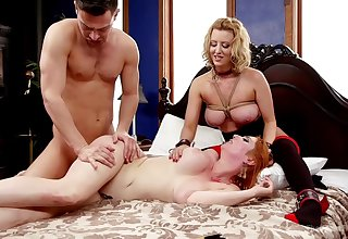 Upscale subjugation threesome with Lauren Phillips and Cherry Torn