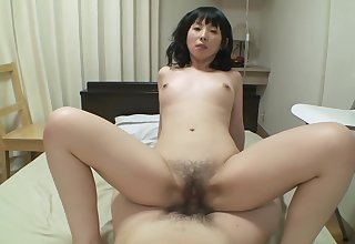 Sweet asian babe gets by a long shot creampie