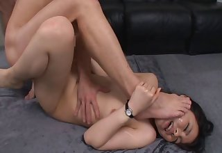 Adorable Japanese slut Yui Aoba with glasses loves having sex