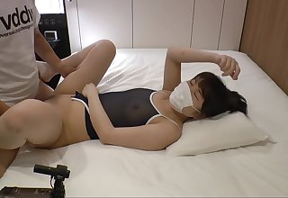 Sexy Asian babe in fogginess and cotton panties fucked