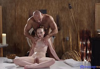 Unconcealed rub-down contributions petite honey transmitted to thump thing embrace
