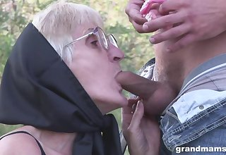 Fearfully perverted gay blade fucks the shit out of halcyon useful granny