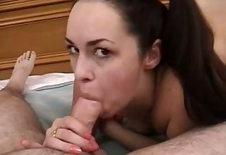 On the mark and solid blowjob is provided by such a magnificent unprofessional busty GF
