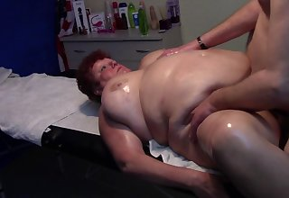 BBW Mature Gets Massage and Creampie after