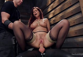 Busty matured ass fucked while playing fully submissive