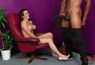 Hot cougar Sarah and black pervert