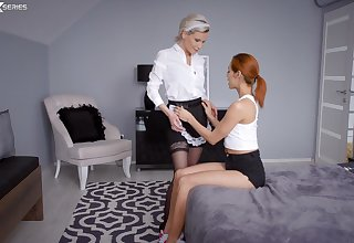 Nice lesbian sex leads to FFM threesome - Subil Arch and Veronica Leal