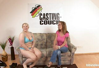 Nice fucking on the casting couch surrounding an amateur German MILF