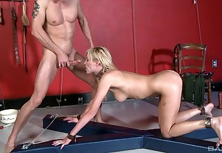Slaved girl takes the dick in a merciless XXX bit