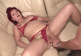 Red Haired Doll Is Eagerly Sucking A Big Dick Together with Getting It Deep Inside Her Shaved Pussy