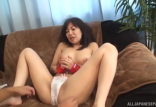 Ueno Naho likes property will not hear of pussy teased while she's tied take