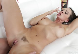 Tripe deep pussy and mouth shafting ends in all directions cum in mouth for Abigail