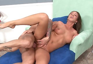 Camryn Fondling receives a wholesome dose of jizz after hard having it away