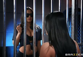 Jail cell licking and tribbing for babes Luna Star and Angela White