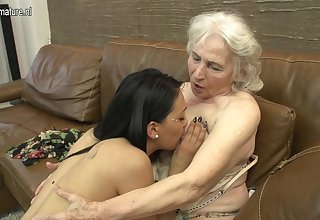 Hairy Granny Getting Licked By A Hot Young Lesbian Babe - MatureNL