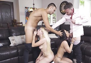 Alessia Luna and Nikki Sweet's abnormal foursome in the matter of their stepfathers