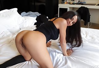 Danika Mori And Steve Mori In Riding A Big Dick In Reversal Cowgirl For A Quickie - Pussy Creampie !