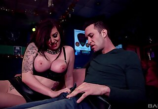 Wild fucking on the leather sofa with controversial Yuffie Yulan