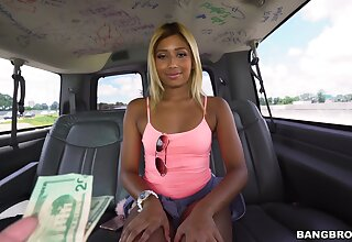 Amateur neonate Ally Berry gets fucked hard from behind in the van