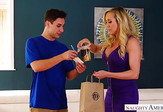 Blonde MILF with astonishing curves Brandi Love is made for riding cock
