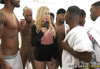 Black boys be wild about deep throat be fitting of nasty white chick Kali Roses and cum on will not hear of orientation