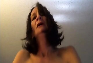 Starved old lady riding to orgasms POV