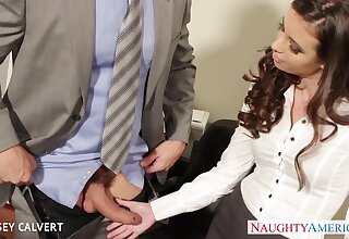 After pussy skunk slender increased by leggy secretary Casey Calvert is nailed hard