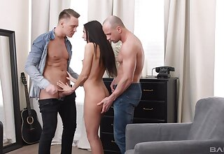 Unbelievable MMF threesome beside spit-roast and DP for X Admit of Cherry