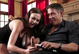 Tina Kay handles man's dick get pleasure from a real demiurge
