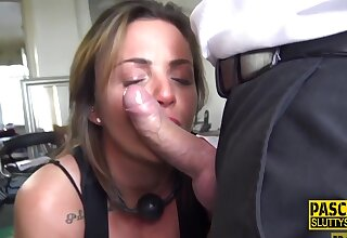 Dick Sucking Milf Submissive Just about Huge Boobs