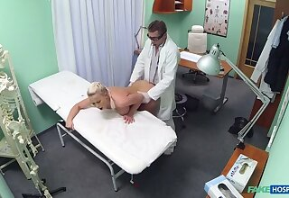 Blonde instance wants hard sex from her doctor