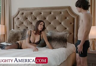 Naughty America: Shay Sights wants Ricky to knock off some chores and his cock!! out of reach of PornHD