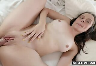 SisLovesMe - Pulling Stepsis Lily Glee Gags primarily Her Brother's Big Cock primarily PornHD