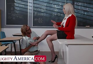 Naughty America: Tattooed vixen, Karma Rx, fucks her student give beg her foot feel better atop PornHD