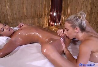 Blonde and brunette oil and orgasms