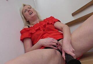 Horny older woman stays house unsurpassed & starts masturbating - HD