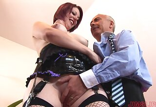 Horny married muff wearing fishnet geste fucked by an experienced bloke - Shay