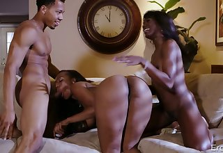 Just super hot doggy fuck with black slutty housewife Ana (FFM)