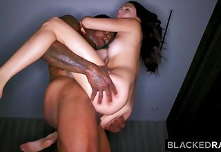 BLACKEDRAW Kinky brunette wife loves black cock in her hotel