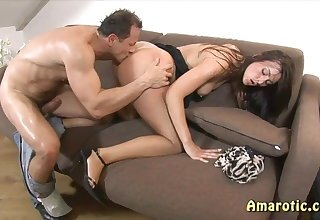 Anal sex with beauty