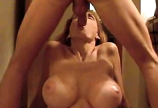 Facial cumshot blonde plays with gumshoe and begs for facial