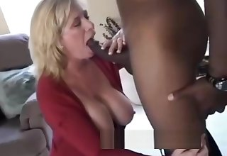 Of age MILF fucks BBC posture of Filming Husband.