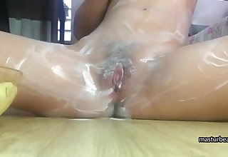 solo experiments Korean 18Yo shows her pussy