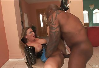 Interracial Scrabble - Devon Lee enjoys grown malignant cock