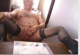 Handsome dad exposed on cam