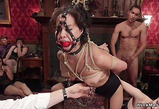 Tied up babes nailed and fisted group