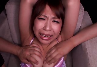 Sae Aihara masturbates alone before her friend helps her to cum